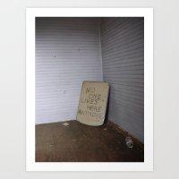 No One Lives Here Anymor… Art Print