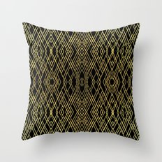 Art Deco Gold Throw Pillow
