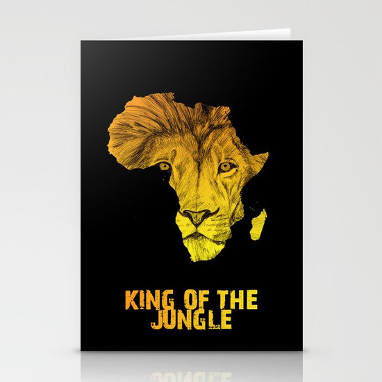 King Of The Jungle! Stationery Card