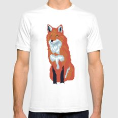 Red Fox Mens Fitted Tee SMALL White