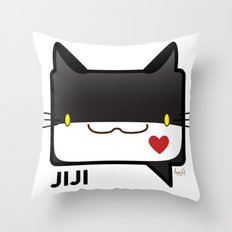 Convo Cats! Jiji Throw Pillow