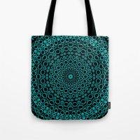 Teal Mandala Tote Bag