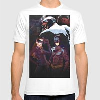 The Darkest Night Mens Fitted Tee White SMALL