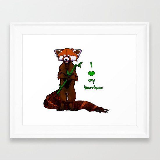 I love my bamboo (tablet) Framed Art Print
