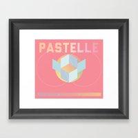 PASTELLE VIBES Framed Art Print