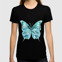 Butterfly Womens Fitted Tee Black SMALL