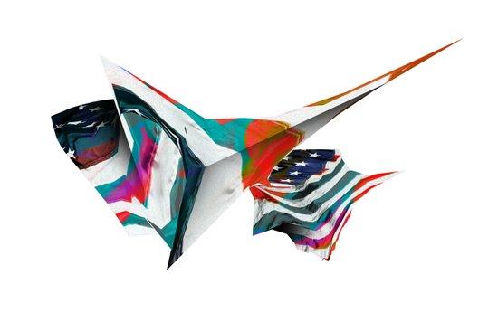 American Flag Study No. 4 Art Print