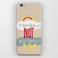 RAINBOWS NOT PAINBOWS iPhone & iPod Skin