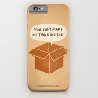 iPhone & iPod Case featuring you can't make me think in here by randy mckee