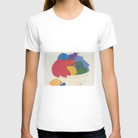 Beyond Color #1 - Bowl of Fruit Womens Fitted Tee White SMALL