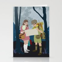 moonrise kingdom Stationery Cards featuring Moonrise Kingdom by Celina Frelinghuysen