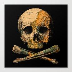 Treasure Map Skull Wande… Canvas Print