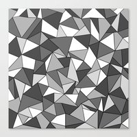 Ab Collide Grey Canvas Print