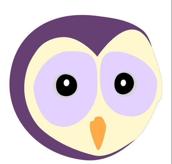 Owl Indigo Art Print