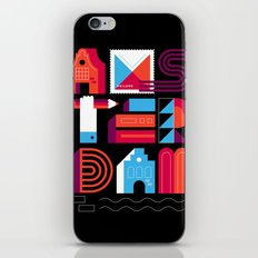 Postcards from Amsterdam / Typography iPhone & iPod Skin
