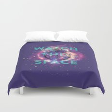 Watch this space Duvet Cover