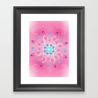 Music Notes In Pink Framed Art Print