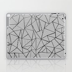 Abstraction Lines #2 Black and White Laptop & iPad Skin