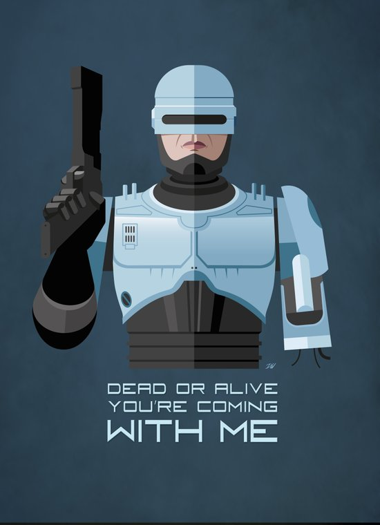 Dead or alive, you're coming with me (RoboCop) Canvas Print