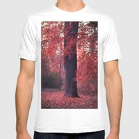 Arbre Mens Fitted Tee White SMALL