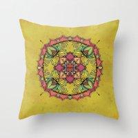 Tan Mandala Throw Pillow