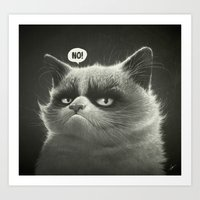 Grumpy I. Art Print