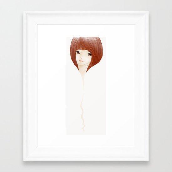 hair extension Framed Art Print
