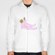 Burger Pizza Fat Man Hoody
