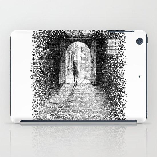 Light - Black ink iPad Case