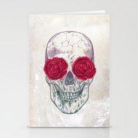 Skull & Roses Stationery Cards