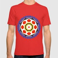 Bold and bright beauty of suzani patterns ver.5 Mens Fitted Tee Red SMALL
