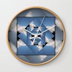 Abstract Clouds Mandala Wall Clock