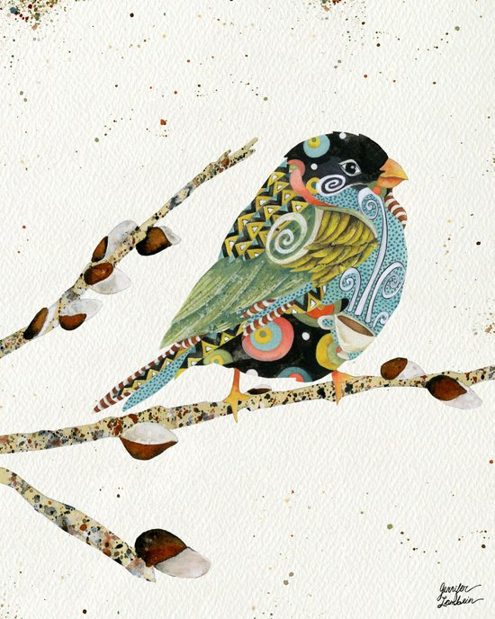 Cafe Swirly Bird 4 Art Print
