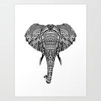 Polynesian Elephant Art Print