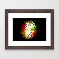Honeycomb Illumination Framed Art Print