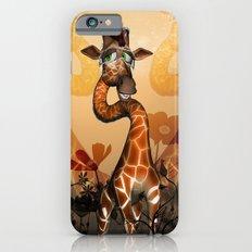Funny, cute giraffe Slim Case iPhone 6s