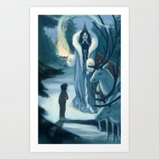 Edmund and the Witch Art Print