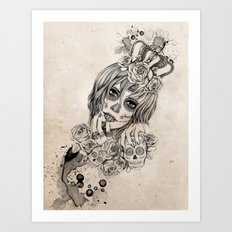 Sugar Skull Queen Art Print