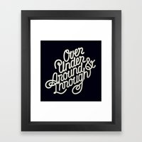Over Under Around & Through Framed Art Print