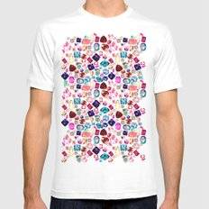 GEM SMALL Mens Fitted Tee White