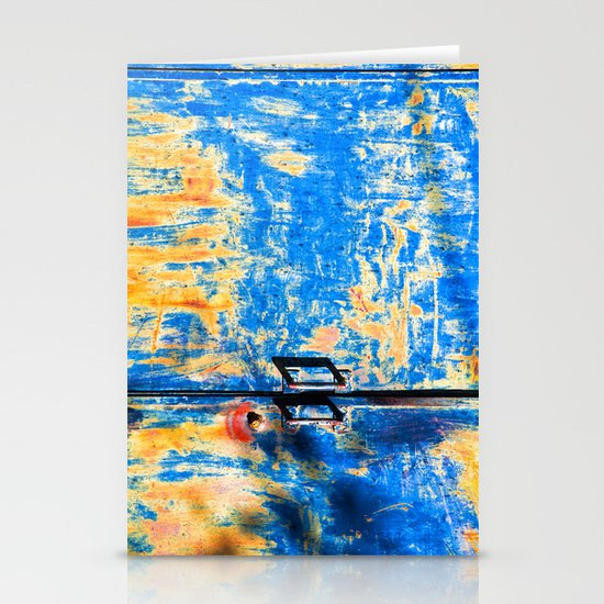 Blue rusty door Stationery Card