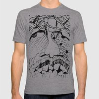 Jesus Mens Fitted Tee Athletic Grey SMALL