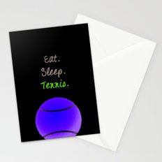 Eat. Sleep. Tennis.  (White with Pink) Stationery Cards