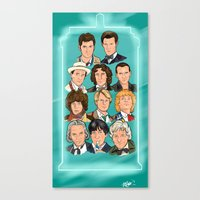 The Eleven Doctors Canvas Print