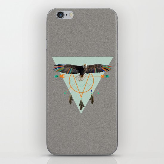 The indian eagle is watching over Po's dreamcatcher iPhone & iPod Skin