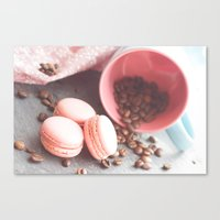 Sweet candycolors cake Canvas Print