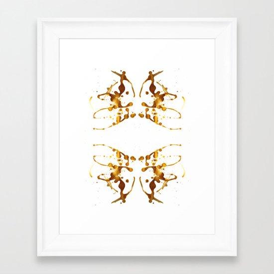 Symmetria Gold 1 Framed Art Print