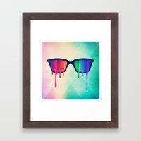 Love Wins! Rainbow - Spectrum (Pride) / Hipster Nerd Glasses Framed Art Print