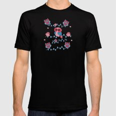 Owls pattern Mens Fitted Tee SMALL Black