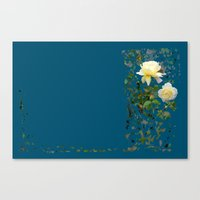 Roses on a string Canvas Print
